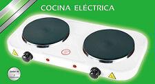 COCINA HORNILLO ELECTRICO 2 FUEGOS PLACA ELECTRICA CAMPING COCINAR SIN GAS