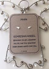 Guardian Angel Gift. Sterling Silver Personalised Earring Gift For Her. Saccos