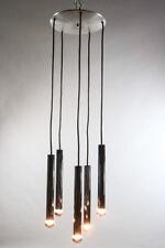 Doria Kaskaden Pendel Leuchte Chrom Lampe 5flammig 70er Jahre Vintage