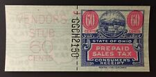 Ohio State Revenue 60 cents Sales Tax Entire - Reserve Litho #J-GGCH-2150 - OH