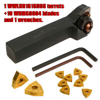 WWLNR1616H08 Lathe Turning Tool Holder + 10pcs WNMG0804 Inserts Blade