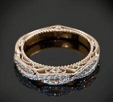 Diamond Wedding Ring Band 14K White Gold Women Anniversary Ring 0.65CT