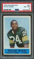 1964 Philadelphia FB Card # 82 Willie Wood Green Bay Packers HOF PSA NM-MT 8 !!!