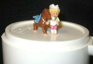 "Polly Pocket ""Western Pony Polly Doll & Horse Only"" Replacements Bluebird 1995"
