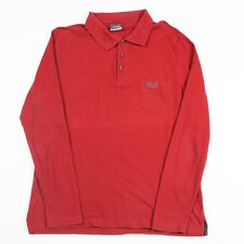Très bon état Jack Wolfskin à Manches Longues Polo Shirt | Homme M | T-shirt à col rétro vintage