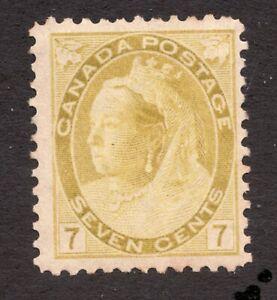 #81 - Canada -  1902  -  7 Cent QV -  MH  - F/ VF -  superfleas  cv $190