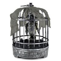 """Animated Skeleton Parrot In Cage Talking Lighted Halloween Prop   """"WATCH VIDEO"""""""