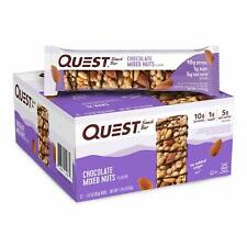 Quest Nutrition Chocolate Mixed Nuts Snack Bar Protein, Low Carb (3 Packs of 12)