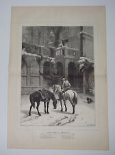 The Empty Saddle From The Picture By S E Waller 1879 Double Page Print