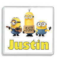 Personalised Minions Drinks Coaster - Add any name or text! *Great Gift!*
