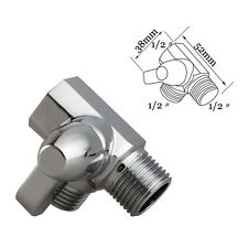 "3 Ways Diverter valve for Shower head Arm  G1/2"" T-adapter, Brass Chrome"