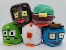 Crossy Road Kawaii Cubes Set of 5 Mini Plush 2' figures Dolls