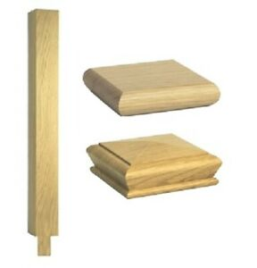 Stair Square Newel Peg Post - Solid Wood - Oak Quality Uk Manufactured!