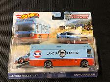 2021 Hot Wheels - Team Transport- Lancia Rally 037 & Euro Hauler - Gulf Livery!