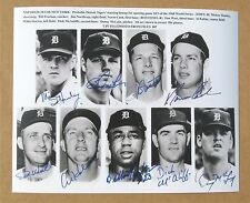 1968 World Series Detroit Tigers Starting Line Up Signed(Copy) 8x10 Photo Kaline