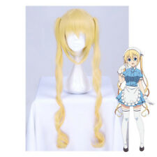 Japanese Anime Blend S Hinata Kaho Cosplay Yellow Long Curly Hair Wig Hairpieces
