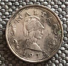 Malta  1972 2 Cents Very Nice Coin LG