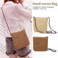Women Beach Straw Woven Shoulder Bag Handbag Tote Purse Crossbody Crochet Bag