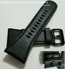 Genuine Leather Heavy Duty Black Watch Band Strap Fit any 34mm Lugs By Levi's