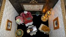 Vintage room box dollhouse - antique German doll - diorama doll house scale 1:12