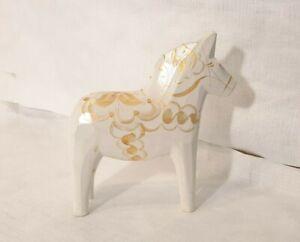 "Akta Dalahemslojd 5"" Dala Horse Celebrate Collection Original Label Sweden Gold"