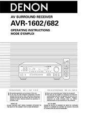 Denon AVR-682 AV Surround Receiver Owners Manual