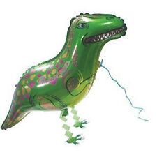 Large Green Dinosaur Balloons Aluminum Walking Animal  Balloons For  Decoration