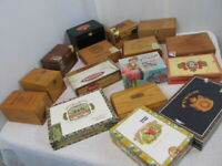 Lot of Very Nice Cigar Boxes-Empty! Assorted Shapes & Sizes WOOD & Dominos Game