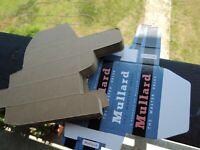 VTG. MULARD TUBE-BOX CARTON BOX for Radio Tubes 12AU7-12ax7/ecc803S,E83CC,E88CC