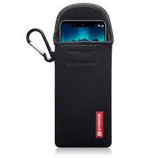Shocksock Neoprene Pouch Case with Carabiner for Nokia 5.1 Plus - Black