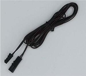 LED MINI AMP Stecker Verlängerungskabel 1,80m 12V mit Stecker und Buchse schwarz