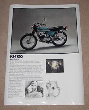 1976 KAWASAKI KH100 VINTAGE MOTORCYCLE POSTER 36x24
