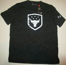 New Under Armour Men's medium x Project Rock Brahma Bull Shield T-Shirt