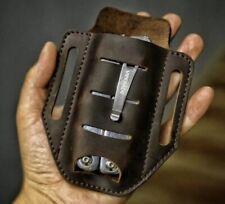 CUSTOM HANDMADE  LEATHER SHEATH For Folding Pocket Knife Or Tool leather man