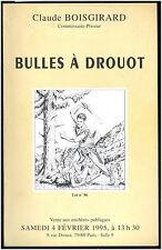 CATALOGUE VENTE ENCHERES  BOISGIRARD BULLES A DROUOT N°2  04/02/1995 + résultats