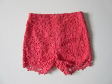 NWT Hollister Lace Tap Short in Coral High Waisted Exposed Back Zip Shorts 0