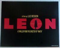 "1994 LOBBY CARD 14"" x 11"" - ""LEON THE PROFESSIONAL"" - JEAN RENO - TITLE CARD"