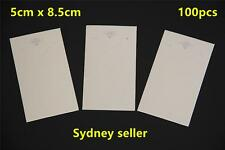 100pcs Earring Pendant Jewellery Display Cards Cream 5x8.5cm + 100p 6x9cm Bags