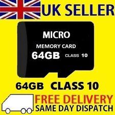 64GB Tarjeta Micro SD clase 10 TF Flash tarjeta de memoria SDHC SDXC Mini - 64G-Nueva-UK
