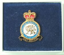 RAF Royal Air Force Police classical Gold Plated lapel Badge
