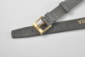 12mm Omega Vintage Band Strap Grey with Gold Plated Buckle NOS Mint (W15)