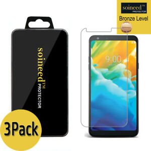 [3-Pack] SOINEED Tempered Glass Screen Protector For LG Stylo 4 / 4+ /Plus(2018)