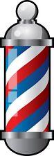 Barber Shop Pole Color Die Cut Vinyl Decal Sticker - You Choose Size