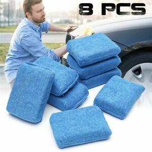 8pcs Microfibre Foam Sponge Polish Wax Applicator Pads Car Polishing-Homeware DA