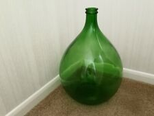 More details for vintage large green glass carboy demijohn 54l