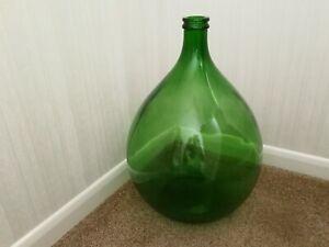 Vintage Large Green Glass Carboy Demijohn 54 Litre
