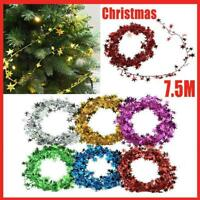1X Stars Wire Garland Tinsel Rattan Christmas Tree Decor DIY Home Party D6H4
