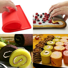 Silicone Square Sushi Mats Pizza Pan Swiss Cake Roll Chocolate Mold Baking Tool