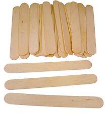 Natural Jumbo Wooden Lollipop Ice Lolly Pop Craft Sticks 150mm X 18mm - PK 100