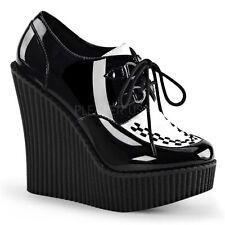 Damenstiefel & -Stiefeletten mit Lack, Glanz und Schnürsenkel für Sehr hoher Absatz (Größer als 8 cm)